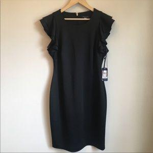 NWT Tommy Hilfiger Ruffle-Sleeve Sheath Dress